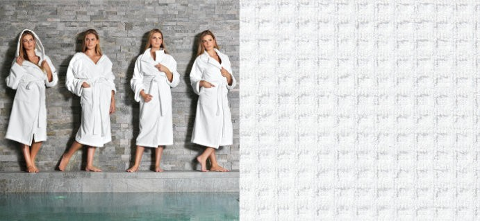 Bathrobes for man and woman